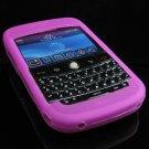 Premium Grip Soft Silicone Skin Cover Case for BlackBerry BOLD 9000 - Purple