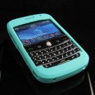 Premium Grip Soft Silicone Skin Cover Case for BlackBerry BOLD 9000 - Turquoise