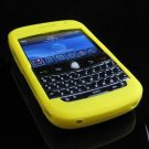 Premium Grip Soft Silicone Skin Cover Case for BlackBerry BOLD 9000 - Yellow