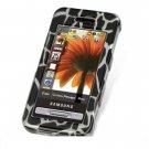 Hard Plastic Design Cover Case for Samsung Finesse R810 (MetroPCS) - Black Giraffe