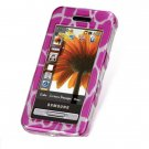 Hard Plastic Design Cover Case for Samsung Finesse R810 (MetroPCS) - Hot Pink Giraffe
