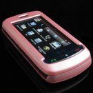 Hard Plastic Full View Rubber Feel Cover Case for LG Xenon GR500 (AT&T) - Baby Pink