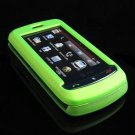 Hard Plastic Full View Rubber Feel Cover Case for LG Xenon GR500 (AT&T) - Neon Green