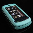 Hard Plastic Full View Rubber Feel Cover Case for LG Xenon GR500 (AT&T) - Turquoise