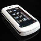 Hard Plastic Full View Rubber Feel Cover Case for LG Xenon GR500 (AT&T) - White