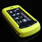 Hard Plastic Full View Rubber Feel Cover Case for LG Xenon GR500 (AT&T) - Yellow