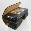 Horizontal Leather Textured Carrying Case for LG enV Touch VX11000