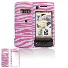 Hard Plastic Design Cover Case for LG enV Touch VX11000 (Verizon) - Pink / White Zebra