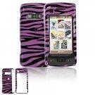 Hard Plastic Design Cover Case for LG enV Touch VX11000 (Verizon) - Purple / Black Zebra