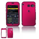Hard Plastic Rubber Feel Cover Case for Sanyo 2700 - Rose Pink