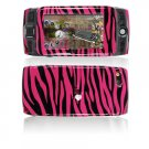 Hard Plastic Design Cover Case for Sidekick LX 2009 - Hot Pink / Black Zebra