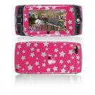 Hard Plastic Design Cover Case for Sidekick LX 2009 - Pink / Silver Stars