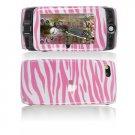 Hard Plastic Design Cover Case for Sidekick LX 2009 - Pink / White Zebra