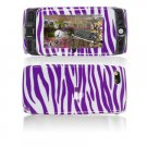 Hard Plastic Design Cover Case for Sidekick LX 2009 - Purple / White Zebra