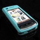 Hard Plastic Rubber Feel Case for LG enV Touch VX11000 (Verizon) - Turquoise
