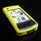 Hard Plastic Rubber Feel Case for LG enV Touch VX11000 (Verizon) - Yellow