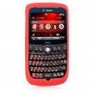 Soft Rubber Silicone Skin Cover Case for HTC Dash 3G (T-Mobile) - Red