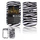 Hard Plastic Design Cover Case for BlackBerry Tour 9600/9630 - Black / White Zebra