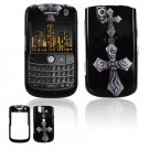 Hard Plastic Design Cover Case for BlackBerry Tour 9600/9630 - Cross