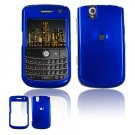 Hard Plastic Glossy Cover Case for BlackBerry Tour 9600/9630 - Dark Blue