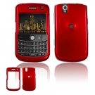 Hard Plastic Glossy Cover Case for BlackBerry Tour 9600/9630 - Red
