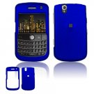 Hard Plastic Rubber Feel Cover Case for BlackBerry Tour 9600/9630 - Dark Blue