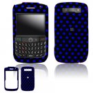 Hard Plastic Design Cover Case for BlackBerry Javelin 8900 - Black / Blue Polka Dots