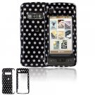 Hard Plastic Design Cover Case for LG enV Touch VX11000 (Verizon) - Black / White Polka Dots
