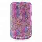 Hard Plastic Bling Design Cover Case for BlackBerry Tour 9600/9630 - Diamond Flower