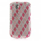 Hard Plastic Bling Design Cover Case for BlackBerry Tour 9600/9630 - Hot Pink Diamond