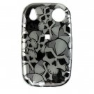 Hard Plastic Design Shield Cover Case for Palm Pre - Black Skull
