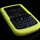 Soft Rubber Silicone Skin Cover Case for BlackBerry Tour 9600/9630 - Yellow