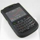 Hard Plastic Rubber Feel Cover Case for BlackBerry Tour 9600/9630 - Black