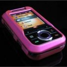 Hard Plastic Rubber Feel Cover Case for Motorola Rival A455 (Verizon) - Hot Pink