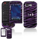 Hard Plastic Design Cover Case for LG Tritan AX840 - Purple / Black Zebra