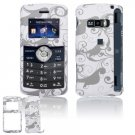 Hard Plastic Design Cover Case for LG enV3 VX9200 (Verizon) - Gray / White Floral Swirls