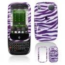 Hard Plastic Design Shield Cover Case for Palm Pre - Purple / White Zebra