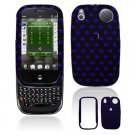 Hard Plastic Design Shield Cover Case for Palm Pre - Blue / Black Polka Dots