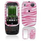 Hard Plastic Design Shield Cover Case for Palm Pre - Pink / White Zebra