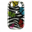 Hard Plastic Design Shield Cover Case for Palm Pre - Rainbow Butterfly Zebra