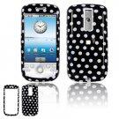 Hard Plastic Design Cover Case for HTC G2 Mytouch - Black / White Polka Dots