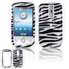 Hard Plastic Design Cover Case for HTC G2 Mytouch - Black / White Zebra