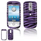 Hard Plastic Design Cover Case for HTC G2 Mytouch - Purple / Black Zebra