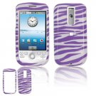 Hard Plastic Design Cover Case for HTC G2 Mytouch - Purple / White Zebra