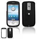 Hard Plastic Rubber Feel Cover Case for HTC G2 Mytouch - Black