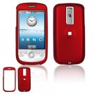 Hard Plastic Rubber Feel Cover Case for HTC G2 Mytouch - Red