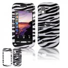 Hard Plastic Design Cover Case for Samsung Solstice (AT&T) - Black / White Zebra