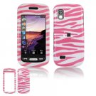 Hard Plastic Design Cover Case for Samsung Solstice (AT&T) - Pink / White Zebra
