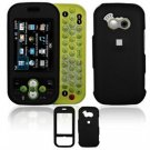 Hard Plastic Rubber Feel Cover Case for LG Neon GT365 (AT&T) - Black