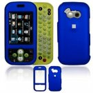 Hard Plastic Rubber Feel Cover Case for LG Neon GT365 (AT&T) - Dark Blue